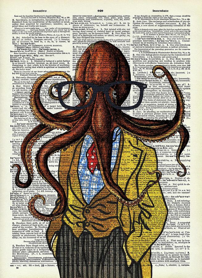 Funny Octopus Digital Art