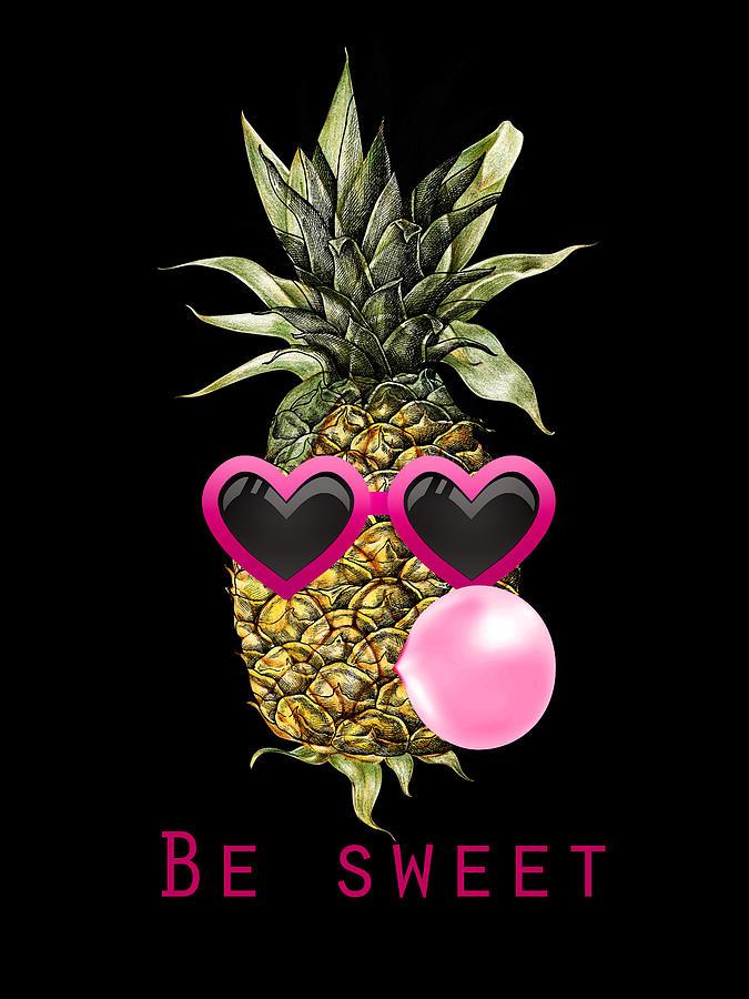 Funny Pineapple Digital Art