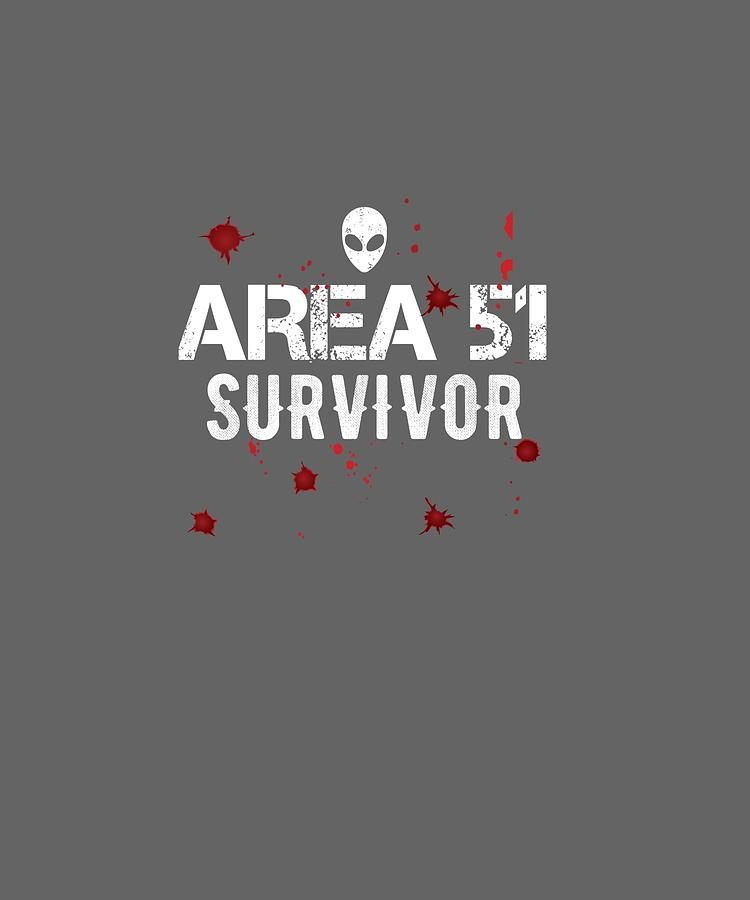Funny Digital Art - Funny Storm Area 51 Survivor Gunshot Wound Halloween Costume Pullover Hoodie by Unique Tees
