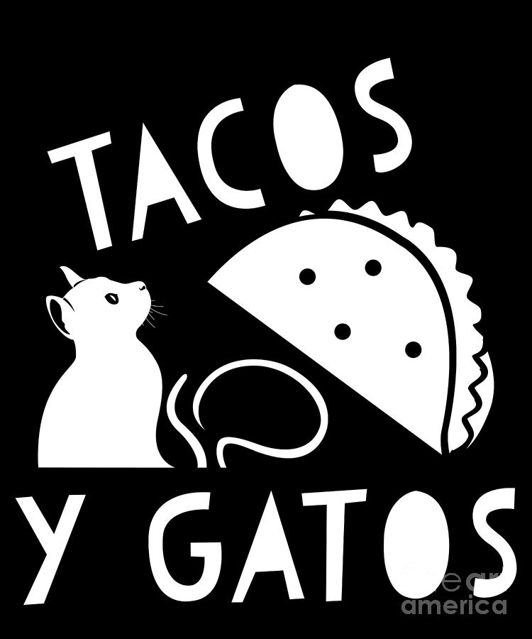 Funny Taco Cat Cinco De Meow Gato Drawing By Noirty Designs