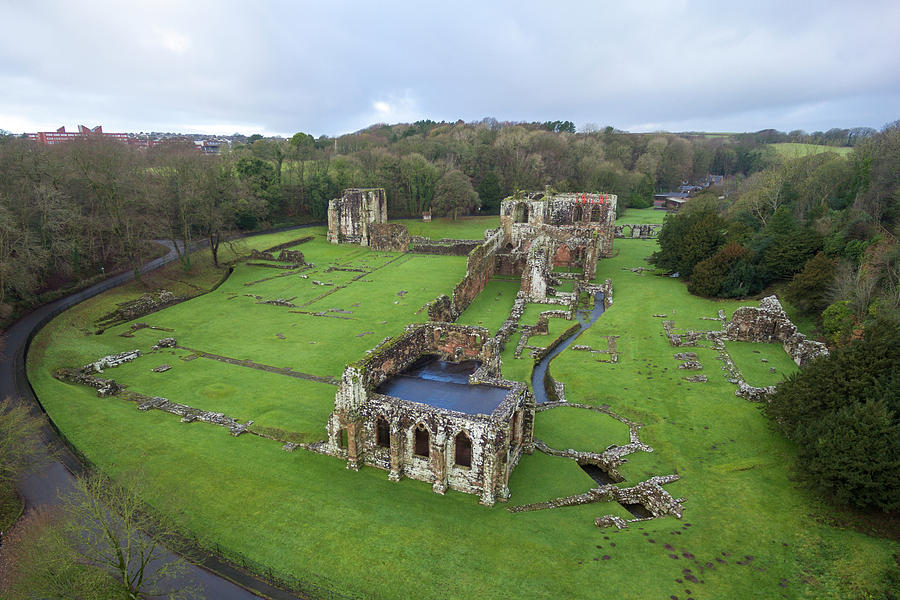 Furness Abbey Photograph - Furness Abbey 1 by Steev Stamford