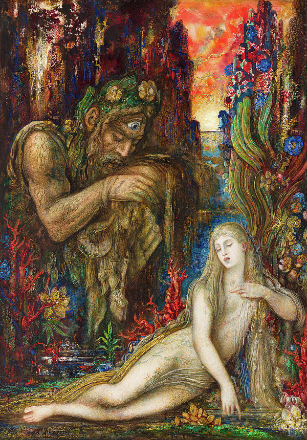 Gustave Moreau Painting - Galatea, 1896 by Gustave Moreau