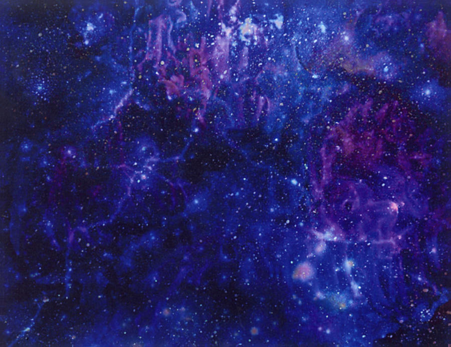 Galaxy Digital Art - Galaxy Blues by Mary J Winters-Meyer