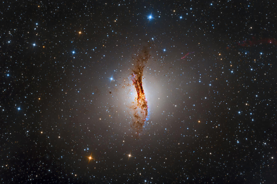 Cosmos Photograph - Galaxy NGC 5128 by Brian Peterson