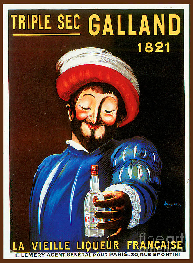 Galland Triple Sec Advertising Poster Painting