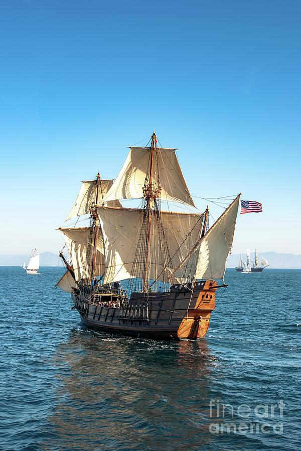 Galleon San Salvador And Barque Star Of India Photograph