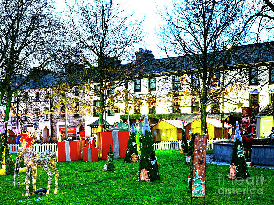 Galway Christmas Market Scene by John Rizzuto