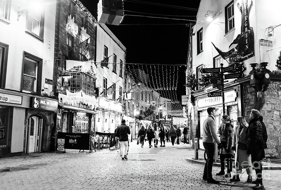 Galway Nights on Quay Street by John Rizzuto