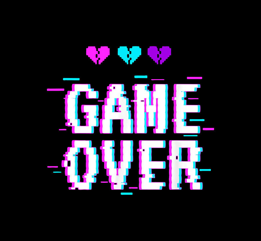 Game Over Vaporwave Digital Art