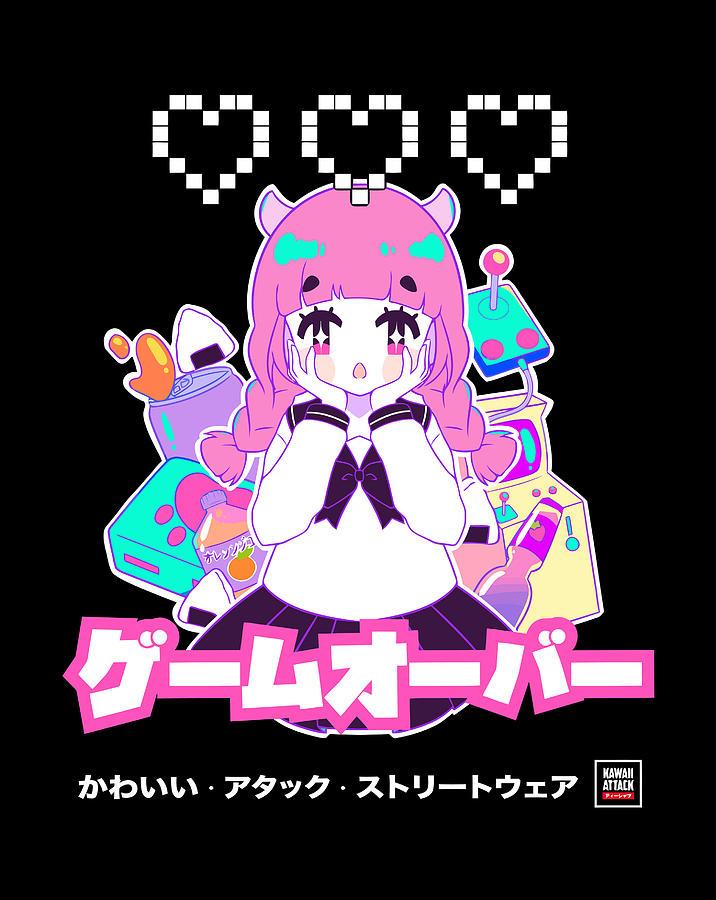 Girl gamer kawaii anime Anime Girl