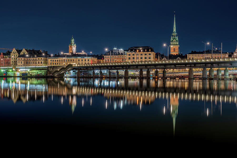 Stockholm Photograph - Gamla Stan Reflection by Dejan Kostic