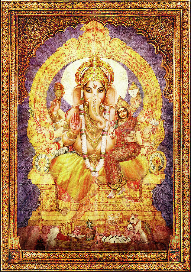 Ganesha Mixed Media - Ganesha Ganapati - Success by Ananda Vdovic