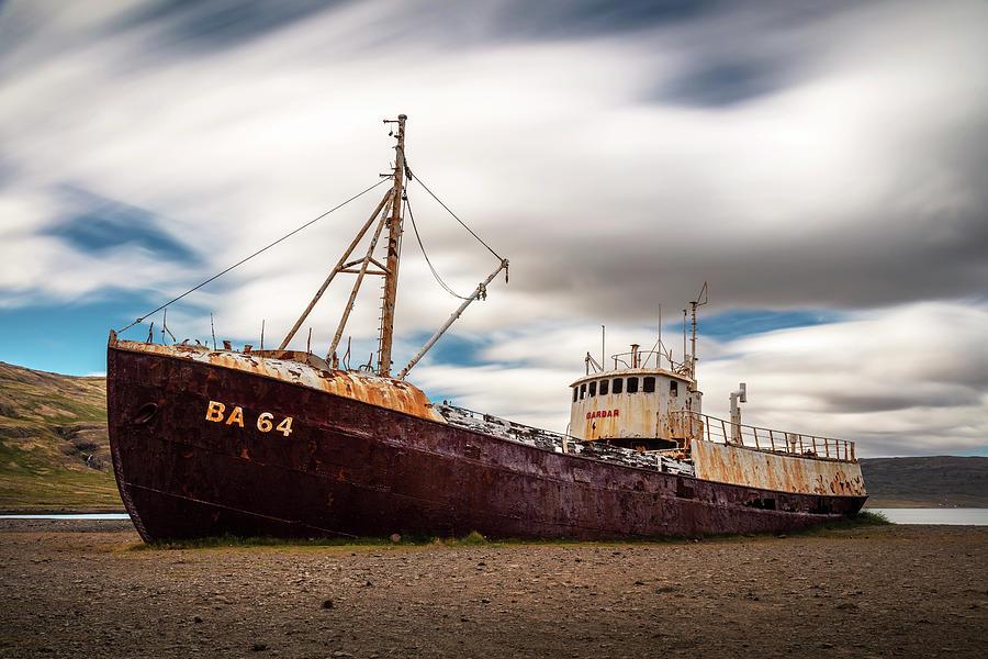 Gardar Ba 64 Old Abandoned Whaling Ship Photograph