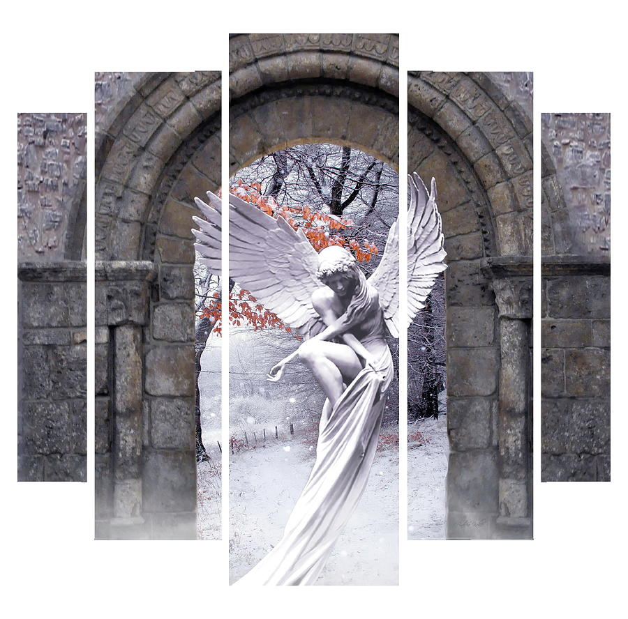 Angel Photograph - Garden Angel  by Andrea Kollo
