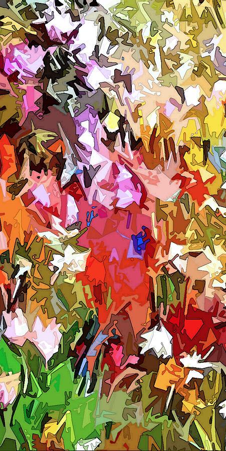 Garden Dazzle Panel One Of Three Digital Art
