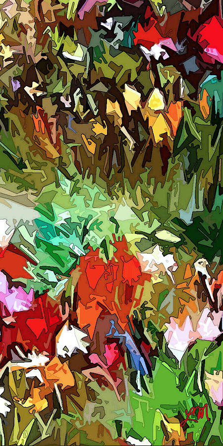 Garden Dazzle Panel Three Of Three Digital Art