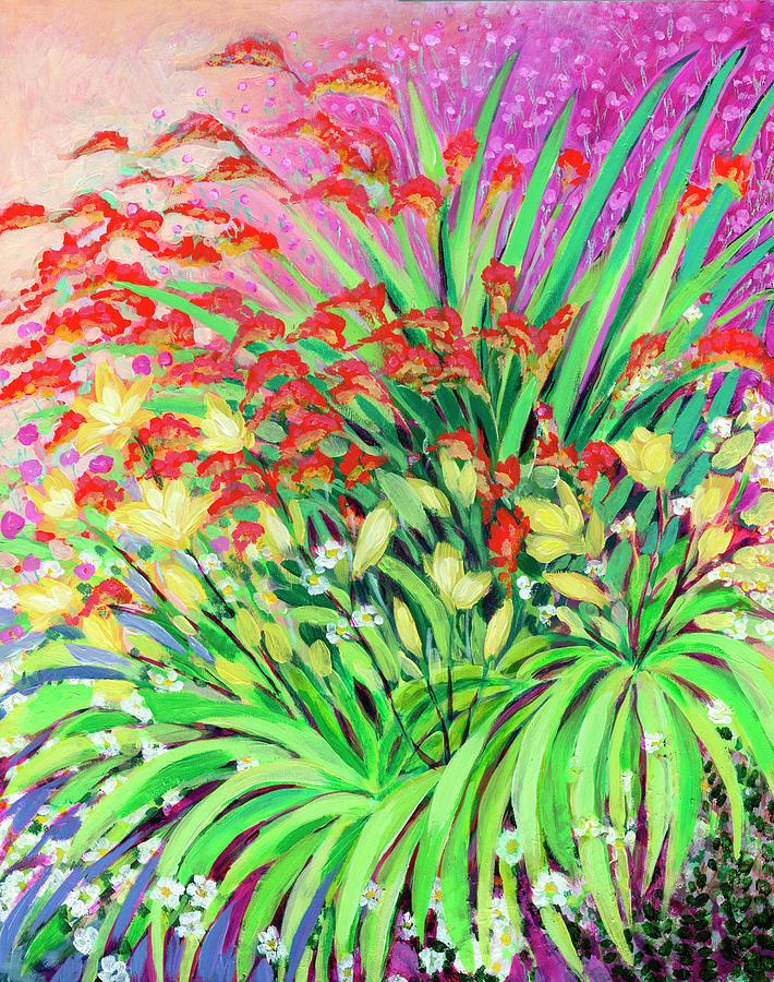 Garden Fireworks Painting
