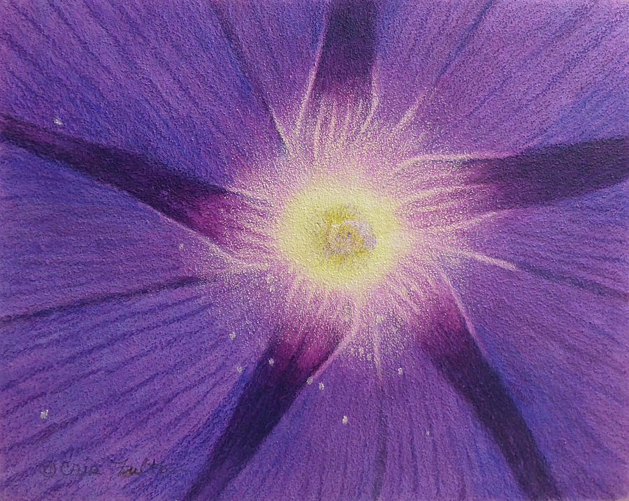 Morning Glory Painting - Garden Glory by Cris Fulton