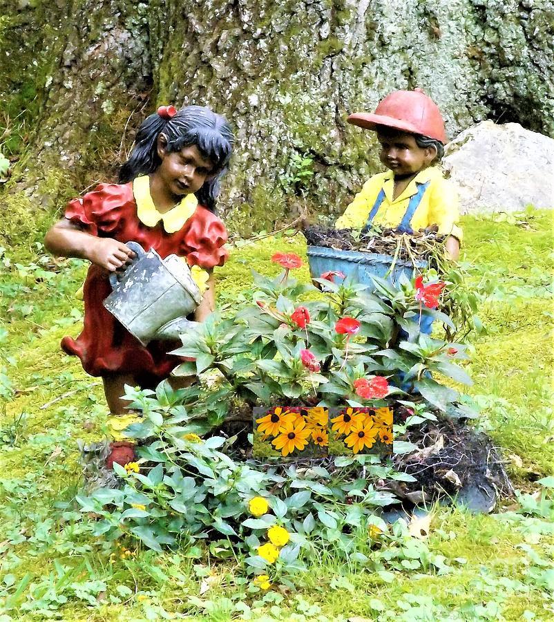 Garden Helpers II Mixed Media