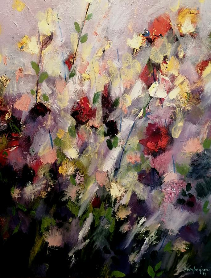 Garden Painting by Mario Zampedroni
