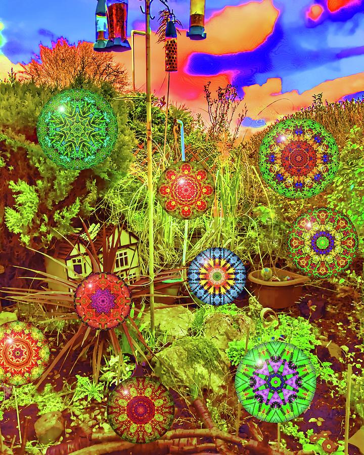 Garden Digital Art - Garden of Mandalas by Carlos Vieira