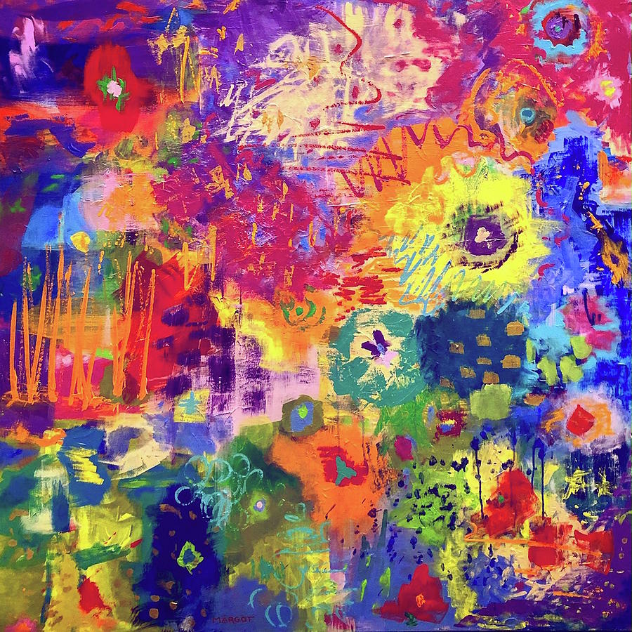Abstract Painting - Garden Party by Margot Sappern