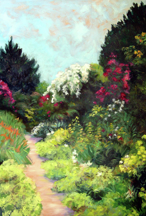Landscape Painting - Garden Path Giverney by Diane Martens