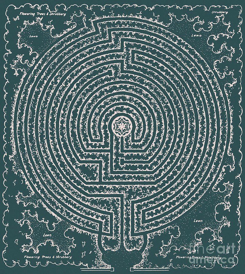 Garden Plans For Chartres Labyrinth Drawing