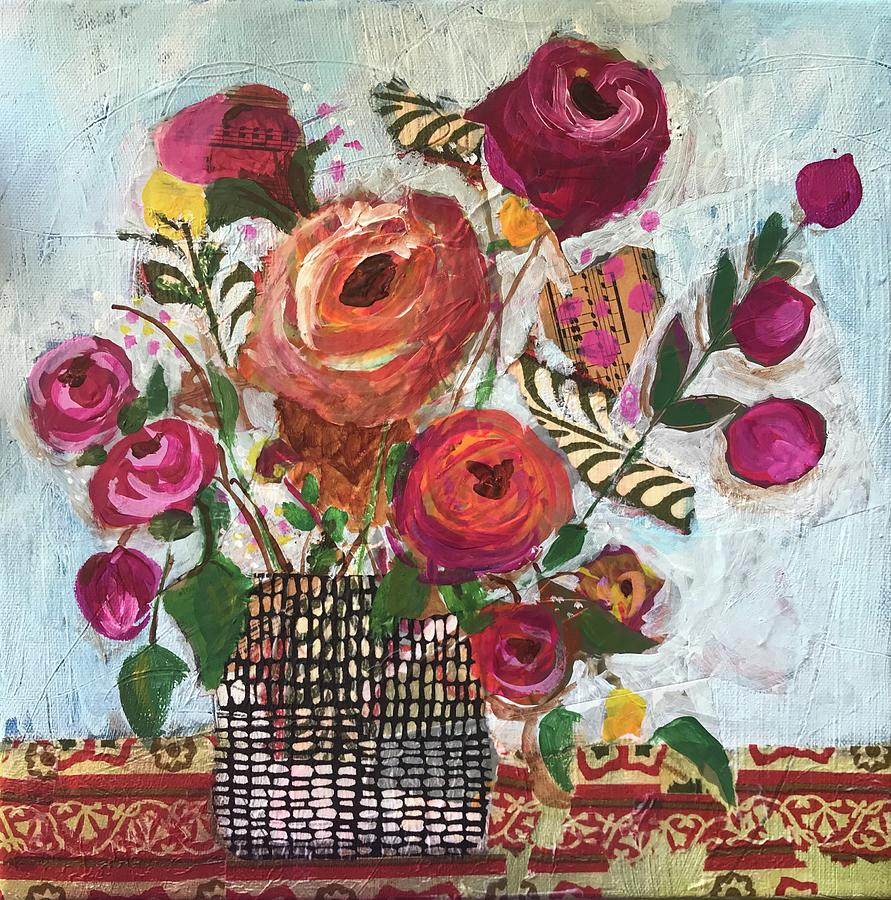 Floral Mixed Media - Garden Song by Susie Zol