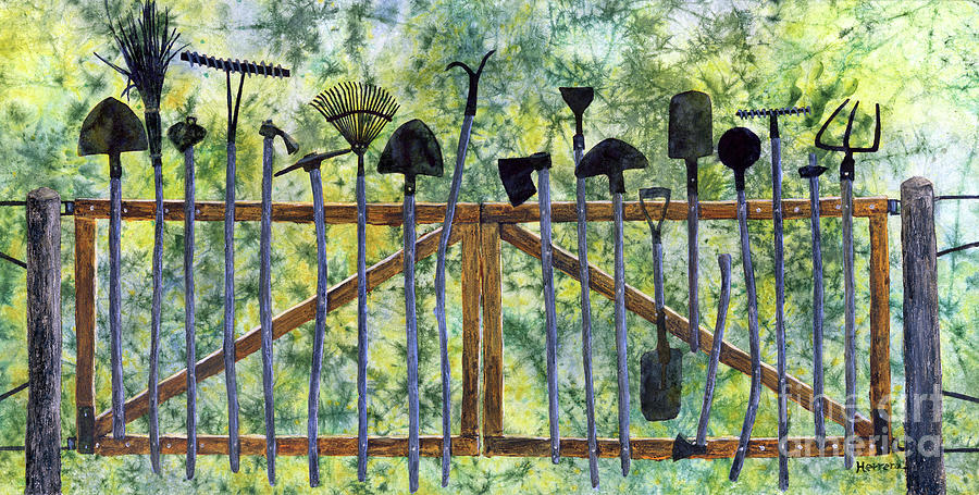 Garden Tools-pastel Colors Painting