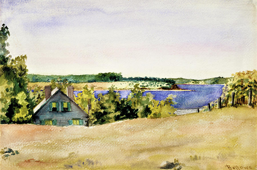 George Wesley Bellows Painting - Gardiners Bay From Sag Harbor - Digital Remastered Edition by George Wesley Bellows