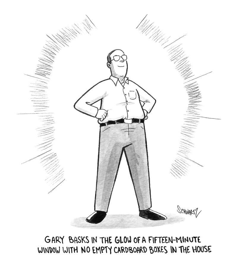 Gary Basks In The Glow Drawing by Benjamin Schwartz