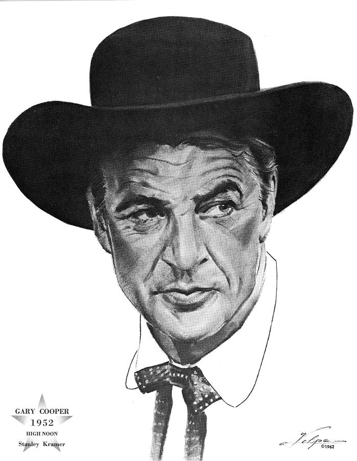 Gary Cooper 2 By Volpe Drawing