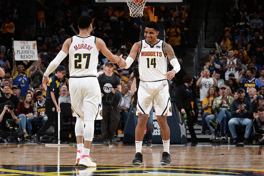 Gary Harris and Jamal Murray Photograph by Bart Young