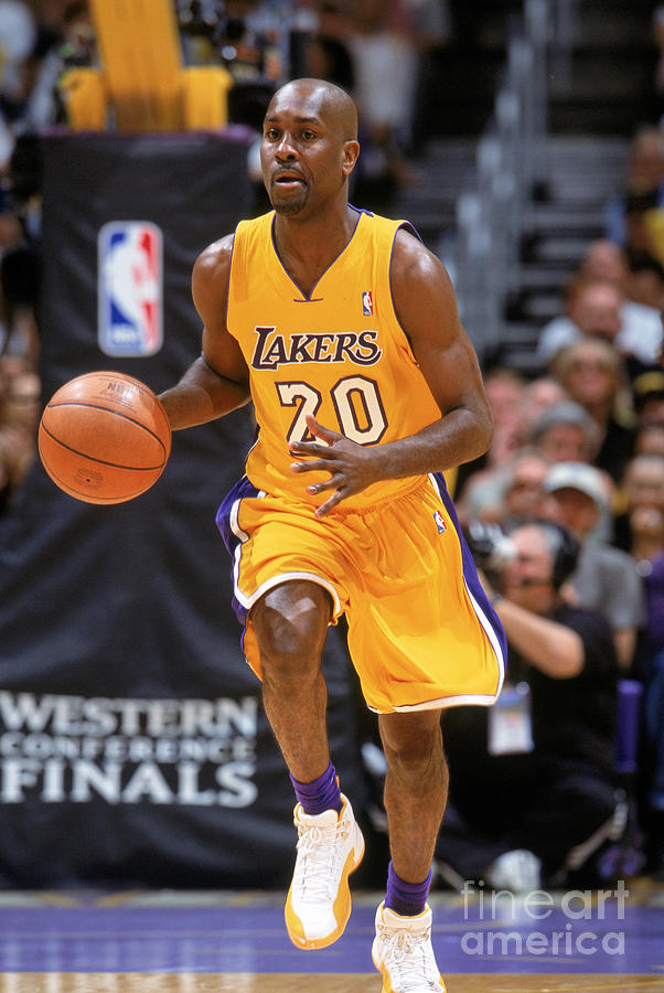 Gary Payton Photograph by Andrew D. Bernstein