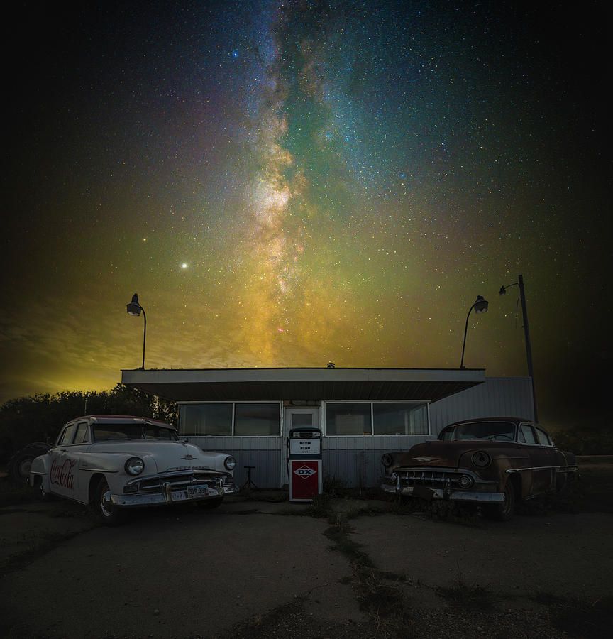 Galaxy Photograph - Gasoline by Aaron J Groen