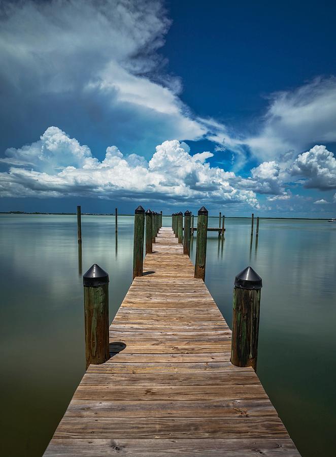 Gasparilla Dock Storm Photograph