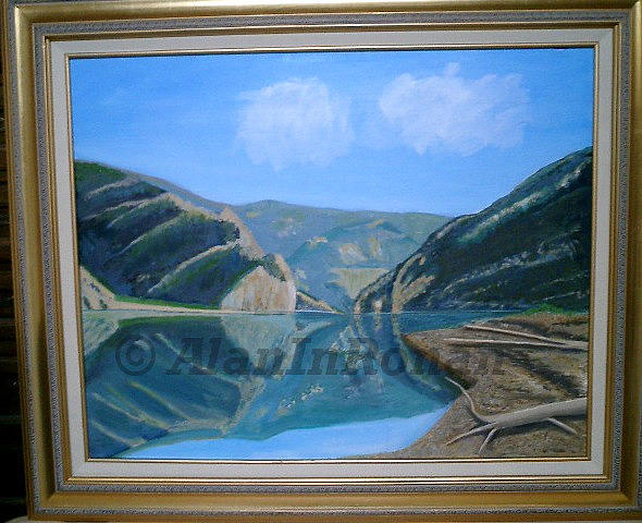 Gates of the Mountains Painting by Alan Findly