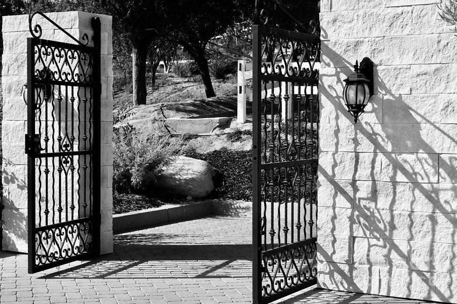 Gates Wall And Shadows Photograph