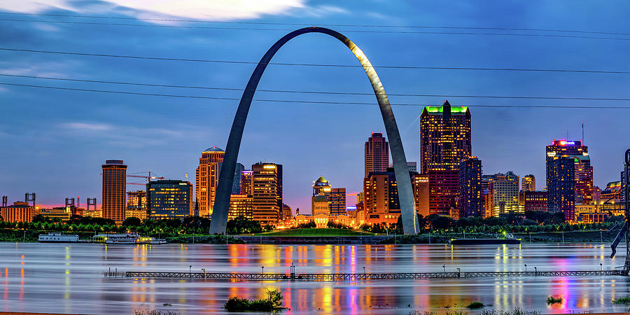 Gateway Arch And Saint Louis Panoramic Skyline Photograph