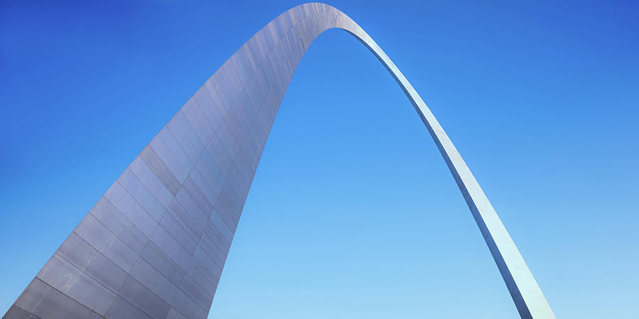 Gateway Arch Architectural Clear Sky Panorama Photograph