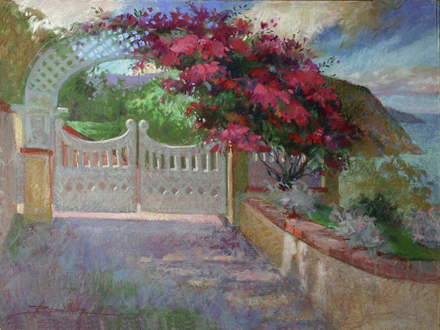 Catalina Island Painting - Gateway Splendor - Catalina Island by Betty Jean Billups