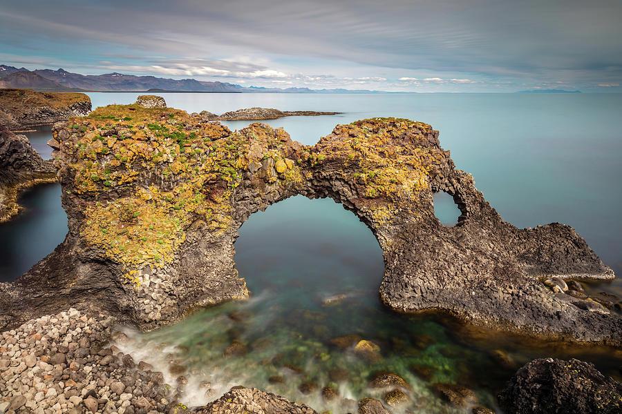 Gatklettur Famous Basalt Stone Arch Iceland Photograph