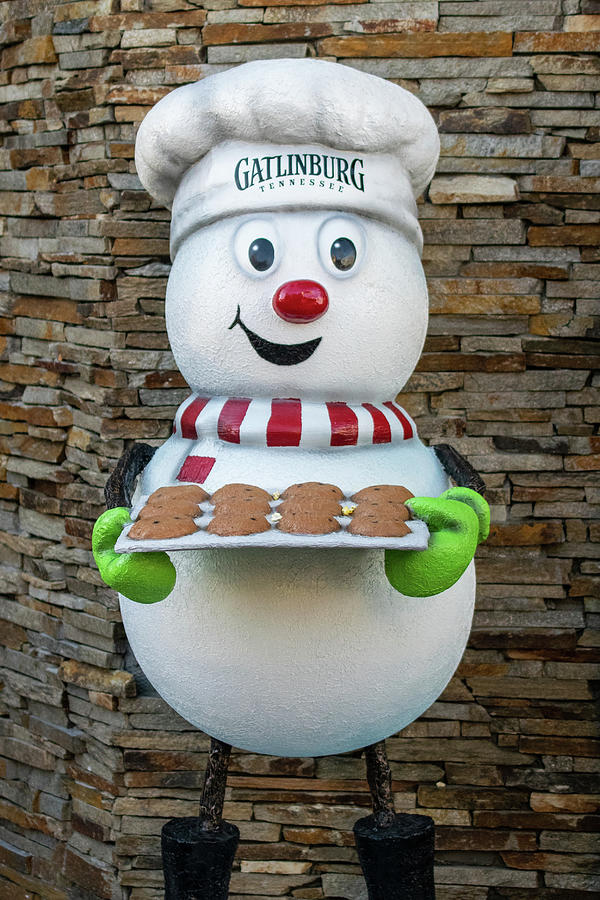 Gatlinburg Winter Magic Snowman Photograph