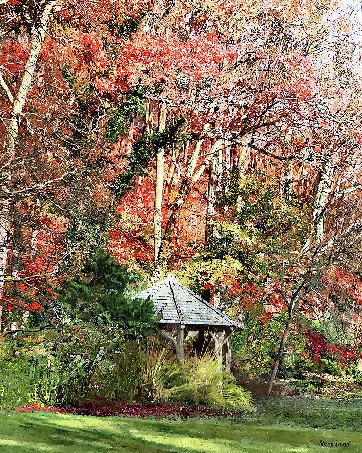Gazebo in Autumn Garden by Susan Savad