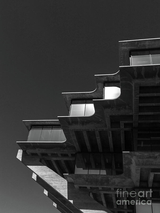 Geisel Library Black and White by Edward Fielding