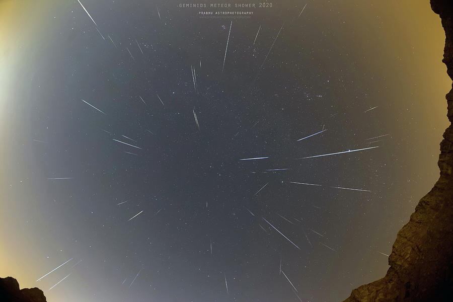 Geminids Meteor Shower 2020 Photograph by Prabhu Astrophotography