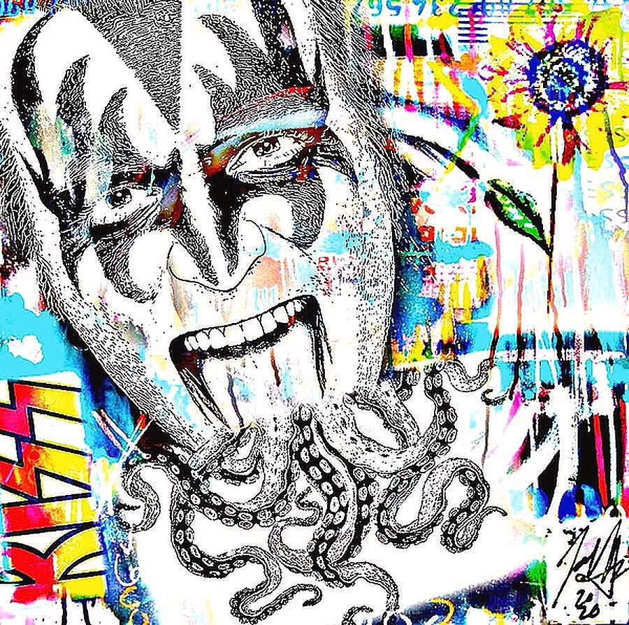 Gene Simmons KISS my blue by Jayime Jean