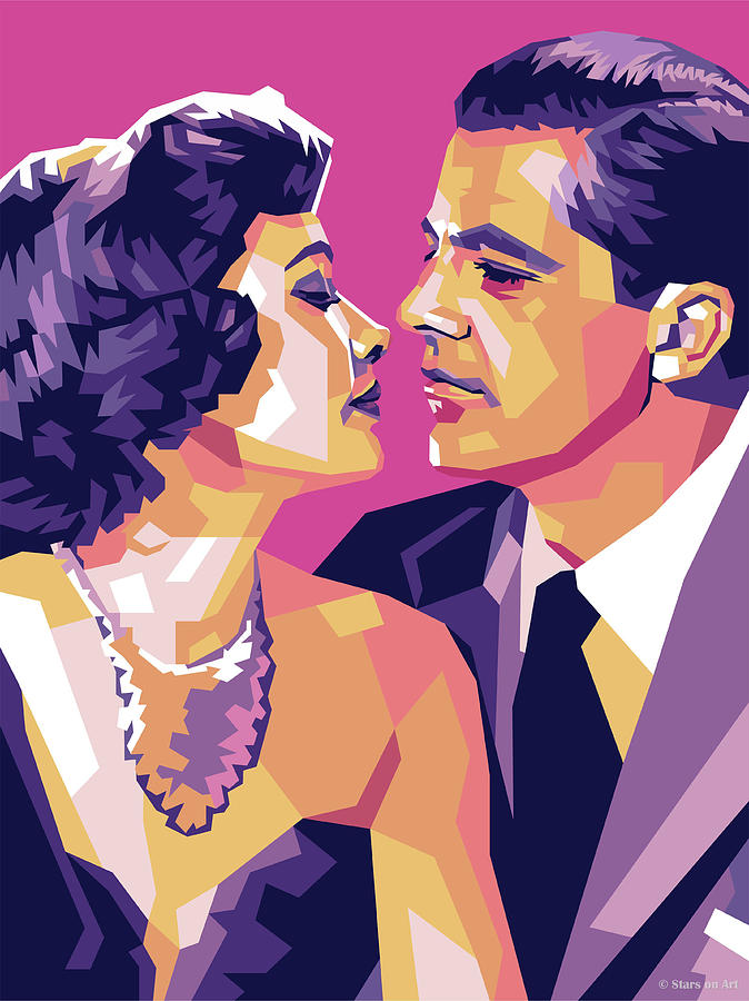 Gene Tierney and Dana Andrews by Stars on Art