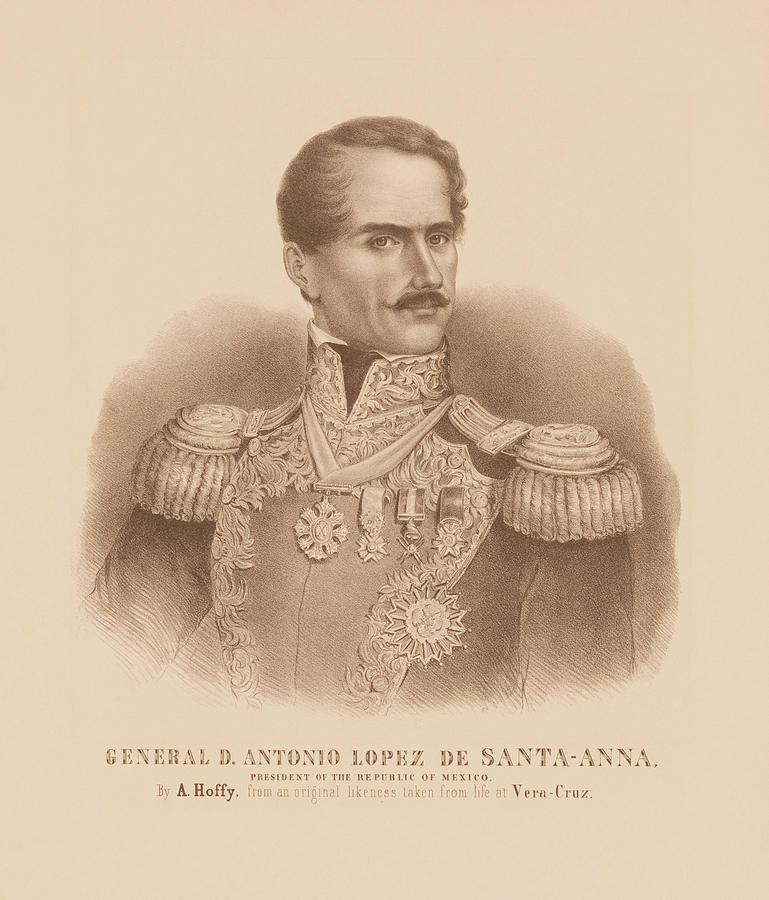 General Antonio Lopez de Santa Anna Portrait by War Is Hell Store